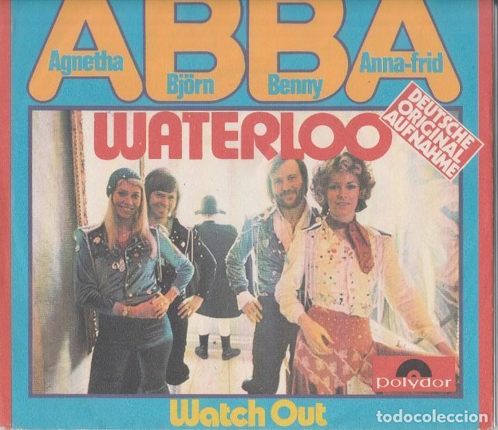 45 GIRI ABBA WATERLOO DEUTSCHE VERSION POLYDOR GERMANY EUROFESTIVAL 74 (Música - Discos de Vinilo - Maxi Singles - Festival de Eurovisión)