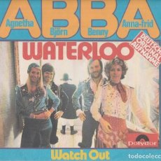 Discos de vinilo: 45 GIRI ABBA WATERLOO DEUTSCHE VERSION POLYDOR GERMANY EUROFESTIVAL 74. Lote 190450958
