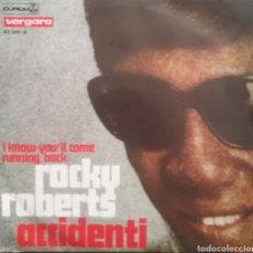 Disques de vinyle: ROCKY ROBERTS ( FESTIVAL SAN REMO). SINGLE. SELLO DURIUM. EDITADO EN ESPAÑA. AÑO 1970. Lote 190456707