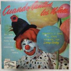 Discos de vinilo: LARRY GODOY - CUANDO CANTAN LOS NIÑOS - EP SPAIN 1961. Lote 190457812
