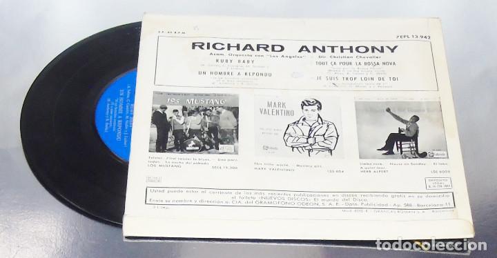 Discos de vinilo: RICHARD ANTHONY --- RUBY BABY & UN HOMME A REPONDU & + 2 AÑO 1963 - Foto 2 - 190459166
