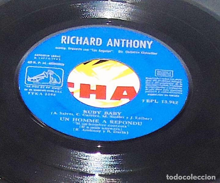 Discos de vinilo: RICHARD ANTHONY --- RUBY BABY & UN HOMME A REPONDU & + 2 AÑO 1963 - Foto 4 - 190459166
