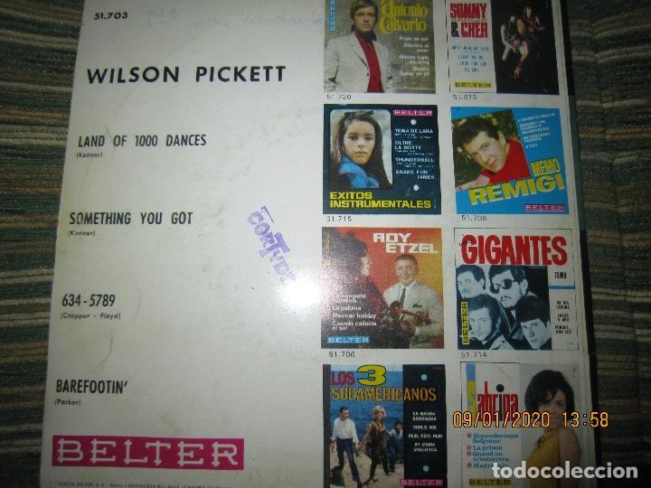 Discos de vinilo: WILSON PICKETT - LAND OF 1000 DANCES E.P. - ORIGINAL ESPAÑOL - BELTER RECORDS 1966 MONOAURAL - Foto 3 - 190468823