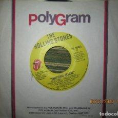 Discos de vinilo: THE ROLLING STONES - EMOTIONAL RESCUE / DOWN IN THE HOLE SINGLE ORIGINAL CANADA - R. STONES 1980 -. Lote 190472875