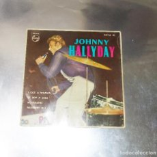 Discos de vinilo: JOHNNY HALLYDAY ----I GOT A WOMAN / BE BOP A LULA + 2 EDICION AÑO 1963 -(VG+ ) (VG+ ). Lote 184725662