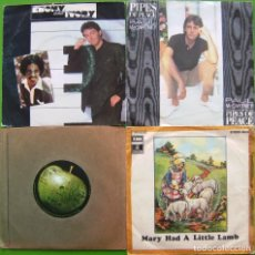 Discos de vinilo: LOTE 4 SINGLES DE PAUL MCCARTNEY Y GEORGE HARRISON (THE BEATLES). Lote 190485983