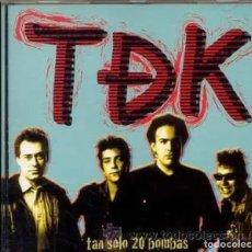 Discos de vinilo: TDK TAN SOLO 20 BOMBAS TDEK JOYA PUNK!! CD NUEVO/PRECINTADO!. Lote 190488336