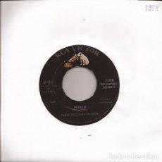Discos de vinilo: SINGLE PEREZ PRADO PATRICIA/WHY WAIT RCA 7245 USA 1958 MAMBO. Lote 190505307