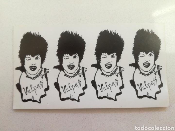 VULPESS // PEGATINA ORIGINAL 1983 EN PERFECTO ESTADO// PUNK KBD VASCO MOVIDA (Música - Discos - Singles Vinilo - Punk - Hard Core)