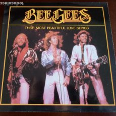 Disques de vinyle: THE BEE GEES - THEIR MOST BEAUTIFUL LOVE SONGS - LP -1986 . Lote 190520647