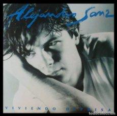 Discos de vinilo: ALEJANDRO SANZ -VIVIENDO DEPREISA- VINILO LP GASTO DE ENVÍO GRATUITO. Lote 190531352
