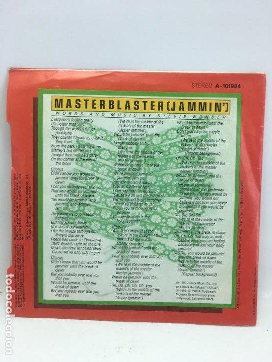 Discos de vinilo: STEVIE WONDER // MASTER BLASTER (JASMMIN´) // SINGLE // A- 101984 // MOTOWN RECORDS // 1980 - Foto 2 - 190551560