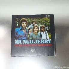 Discos de vinilo: MUNGO JERRY ---- IN THE SUMMERTIME & MIGHTY MAN ---Nº 1 EN U.K. TOP 50 NEAR MINT ( NM OR M- ). Lote 181036738