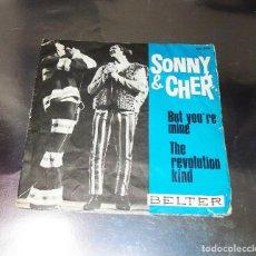 Discos de vinilo: SONNY & CHER ---BUT YOU´RE MINE --THE REVOLUTION KIND ------ORIGINAL AÑO 1965 ----( NM OR M- ). Lote 190556008