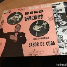 Discos de vinilo: BEBO VALDES (MUCHO SABOR) LP ESPAÑA 1989 (B-9). Lote 190559285
