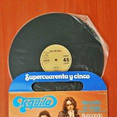 Discos de vinilo: TEQUILA - NECESITO UN TRAGO/BUSCANDO PROBLEMAS.EDITADO POR ZAFIRO AÑO 1.978.SUPERSINGLE PROMOCIONAL . Lote 190562996