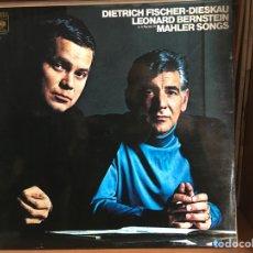 Disques de vinyle: MAHLER SONGS (LEONARD BERNSTEIN, DIETRICH FISCHER DIESKAU) (LP) (D:NM/C:VG+). Lote 190582408