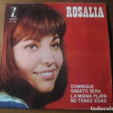 Discos de vinilo: ROSALÍA - DOMINIQUE + 3 ********** RARO EP 1964 CHICA YE YÉ. Lote 190588362