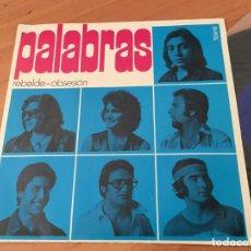 Discos de vinilo: PALABRAS (REBELDE / OBSESION ) SINGLE ESPAÑA 1971 NUEVO. (EPI03). Lote 190594488