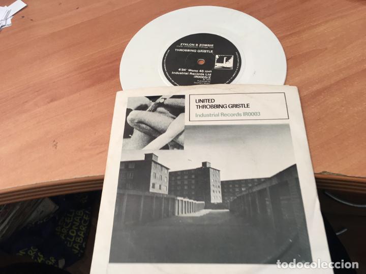 THROBBING GRISTLE ( ZYKLON B ZOMBIE) SINGLE ELECTRONICA WHITE VINYL (EPI03) (Música - Discos - Singles Vinilo - Electrónica, Avantgarde y Experimental)