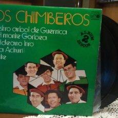 Discos de vinilo: LOS CHIMBEROS - LOS CHIMBEROS - DOBLE LP 1976 - PORTADA DOBLE - COMO NUEVO PEPETO. Lote 190603766
