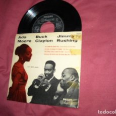 Discos de vinilo: ADA MOORE, BUCK CLAYTON, JIMMY RUSHING ‎– CAT MEETS CHICK EP NETHERLANDS 1956. Lote 190610926