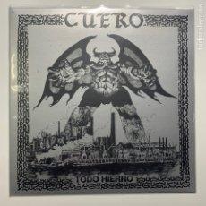 Discos de vinil: LP CUERO TODO HIERRO PRIMERA EDICION 2019 - BLACK METAL SKINHEADS. Lote 204767583