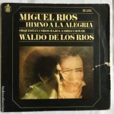 Disques de vinyle: MIGUEL RIOS – HIMNO A LA ALEGRIA - HISPAVOX  1969 - SIGLE -. Lote 190623620