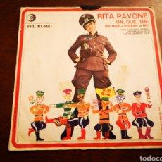 Discos de vinilo: RITA PAVONE. UN DUE TRUE, PIPPO NON LO SA.. Lote 190624835