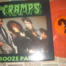 Discos de vinilo: THE CRAMPS BOOZE FIESTA/2-LP, 1989, BOOTLEG, LIVE, ORANGE ULTRA RARE MONSTERS KILLERS SONIDO POTENTE. Lote 190625508