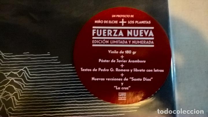 Discos de vinilo: MUSICA LP: FUERZA NUEVA. NIÑO DE ELCHE+LOS PLANETAS. EDICION LIMITADA Y NUMERADA CON EL 259 DE 1492 - Foto 2 - 190637696