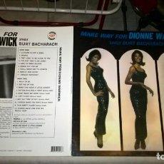Discos de vinilo: MUSICA LP: DIONNE WARWICK - SINGS BURT BACHARACH. EDITA VINYLOGY 2018. IMPORTACION NUEVO OFERTA (B). Lote 190641167