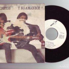 Discos de vinilo: LOS SECRETOS - Y NO AMANECE. Lote 190643621