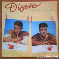 Discos de vinilo: SINGLE : DISEÑO / PAJAROS EN MI CABEZA. Lote 190643908