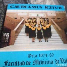 Discos de vinilo: FACULTAD DE MEDICINA DE VALENCIA, 1980. ORLA 1974-80, EP.´S, NUEVOS SIN USO.PORTADA ABIERTA.. Lote 190702622