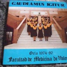 Discos de vinilo: FACULTAD DE MEDICINA DE VALENCIA, 1980. ORLA 1974-80, EP..NUEVO SIN USO.PORTADA ABIERTA.. Lote 190703758