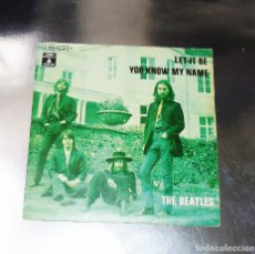 Discos de vinilo: THE BEATLES ---LET IT BE & YOU KNOW MY NAME -----EDICION ESPAÑOLA 1970 -- - MINT ( M ). Lote 179092370
