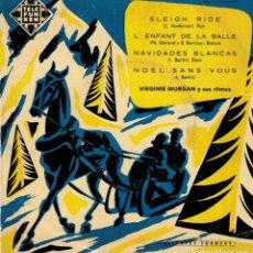 Discos de vinilo: VIRGINIE MORGAN Y SUS RITMOS - SLEIGH RIDE +3 EP SPAIN - DISCO TELEFUNKEN. Lote 190726912