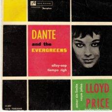 Discos de vinilo: DANTE AND THE EVERGREENS - LLOYD PRICE - SPAIN VINILO AZUL 1960. Lote 190730280