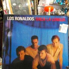 Discos de vinilo: LP LOS RONALDOS - SACA LA LENGUA. Lote 190741168