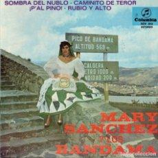 Discos de vinilo: MARY SANCHEZ Y LOS BANDAMA - SOMBRA DEL NUBLO +3 - EP SPAIN 1967. Lote 190774296