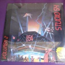 Discos de vinilo: STUDIO 54 VOLUMEN 2 LP BLANCO Y NEGRO 1985 PRECINTADO - ITALODISCO SYNTH POP 80'S - MEZCLADO . Lote 190778645