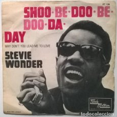 Discos de vinilo: STEVIE WONDER. SHOO-BE-DOO-BE-DOO-DA-DAY/ WHY DONT YOU LEAD ME TO LOVE. TAMLA MOTOWN, FRANCE 1968. Lote 190780153