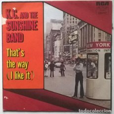 Discos de vinilo: K.C. AND THE SUNSHINE BAND. THAT'S THE WAY (I LIKE IT)/ AIN'T NOTHIN' WRONG. RCA, FRANCE 1975 SINGLE. Lote 190780538