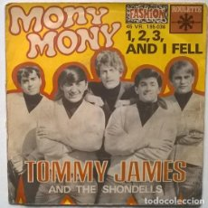 Discos de vinilo: TOMMY JAMES & SHONDELLS. MONY, MONY/ 1, 2, 3 AND I FELL. ROULETTE, FRANCE 1968 SINGLE. Lote 190780747