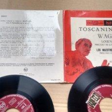 Discos de vinilo: SINGLE ( VINILO) -DOBLE- TOSCANINI DIRIGE WAGNER. Lote 190794248