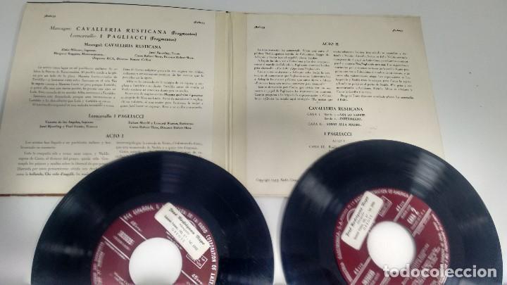 Discos de vinilo: SINGLE ( VINILO)-DOBLE- OPERA ( CAVALLERIA RUSTICANA) - Foto 2 - 190794487