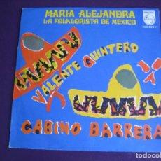 Discos de vinilo: MARIA ALEJANDRA LA FOLKLORISTA DE MEXICO - SG PHILIPS 1968 VALENTE QUINTERO +1 FOLK RANCHERAS . Lote 190805186