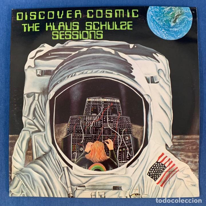 LP - DISCOVER COSMIC - KLAUS SCHULZE SESSIONS - DOBLE LP - FRANCIA - 1975 - VG (Música - Discos - LP Vinilo - Electrónica, Avantgarde y Experimental)