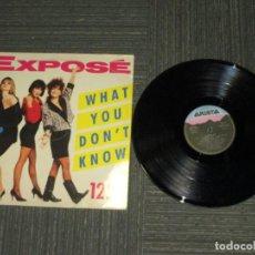 Discos de vinilo: EXPOSE - WHAT YOU DON´T KNOW - MAXI - SPAIN - ARISTA - LV - . Lote 190861417